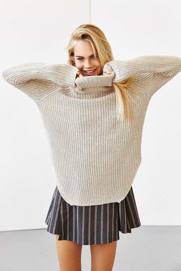 áo len cổ lọ