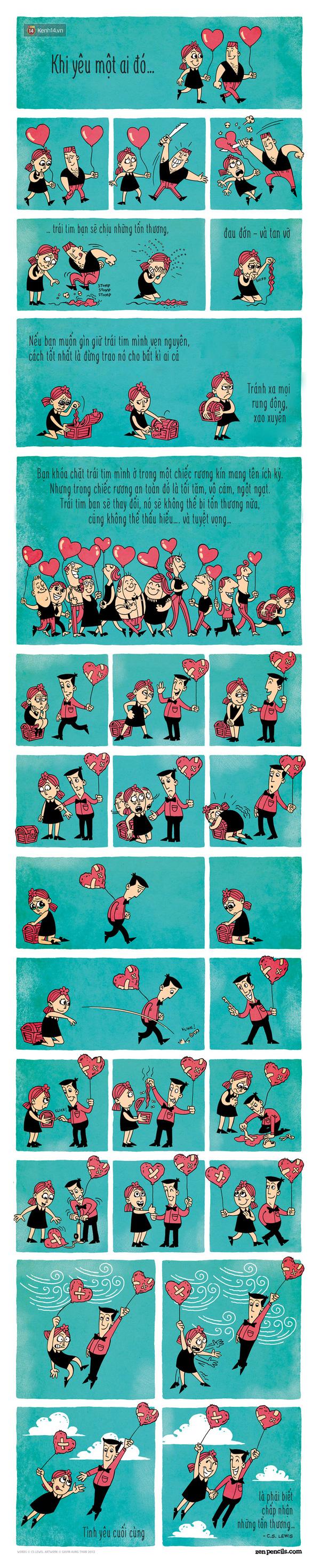 [Bộ tranh] Tình yêu là phải biết chấp nhận cả những tổn thương