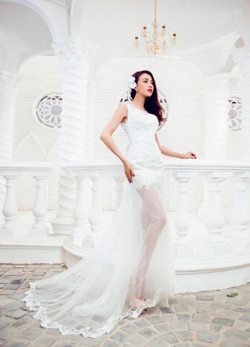 Xu hướng váy cưới hè 2015 cho cô dâu thêm xinh