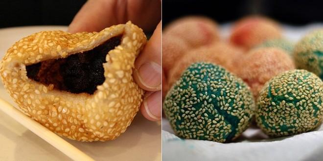Jin Deui (Bánh rán vừng): Với nhân đậu đỏ hoặc đậu đen và vỏ ngoài nhiều màu rực rỡ, Jin Deui là món ăn chơi thú vị của Hong Kong.