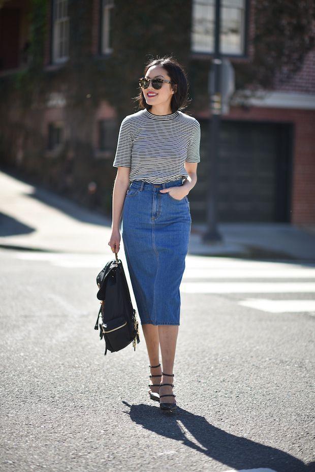 Cách phối chân váy midi cực chất như fashionista chính hiệu - GUU.vn