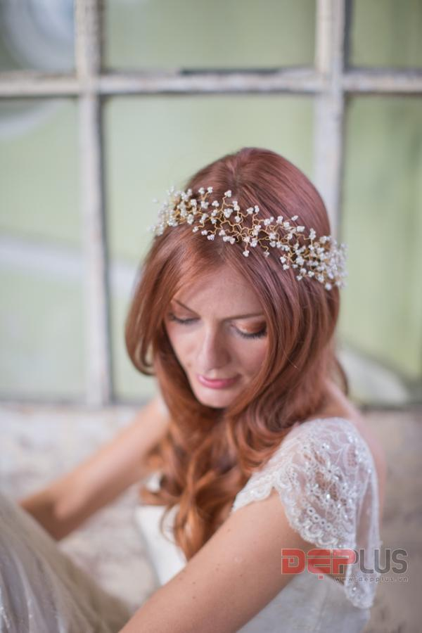 Phụ kiện đẳng cấp cho tóc đẹp cô dâu