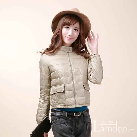 Áo khoác phao đẹp cho nàng đón mùa thu đông 2013