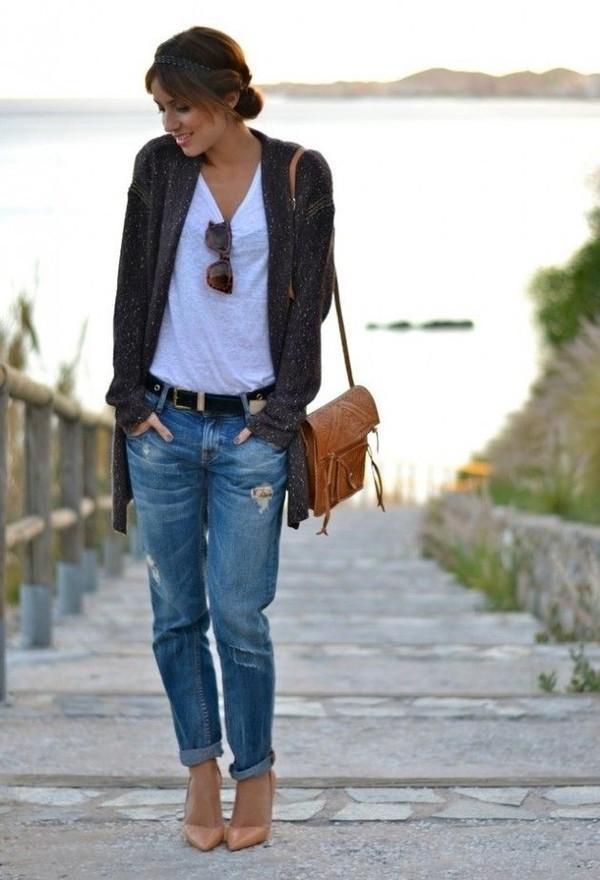 Gợi ý nhiều cách mặc cardigan ngày thu cho phái đẹp 18