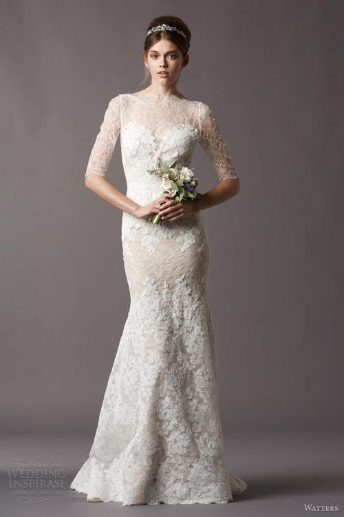 Chọn váy cưới đẹp, ấm cho cô dâu mùa đông - 1