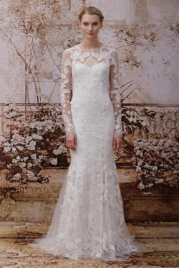 Xu hướng váy cưới dài tay cho mùa đông lạnh giá 13
