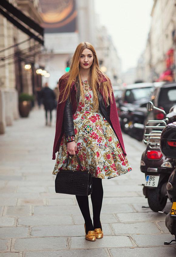 Rực rỡ sắc màu street style trên phố Âu
