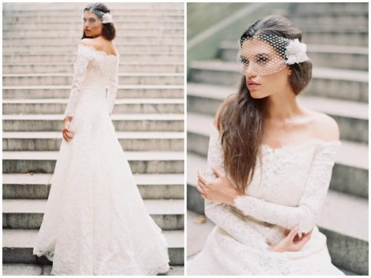 Xu hướng váy cưới dài tay cho mùa đông lạnh giá 2