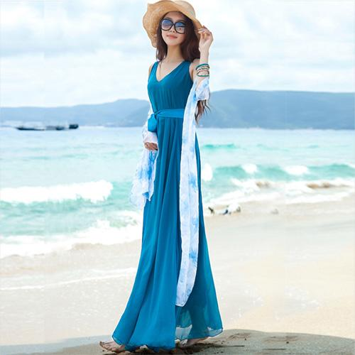 Váy hè đẹp với gam xanh dịu dàng