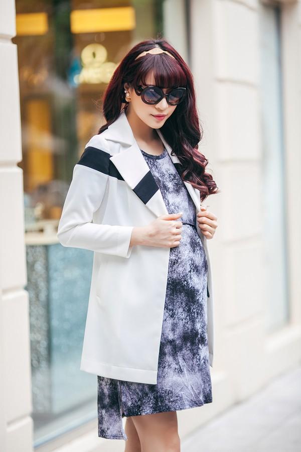 Mặc đồ công sở ấm áp và thời trang cho bà bầu xinh đẹp 4