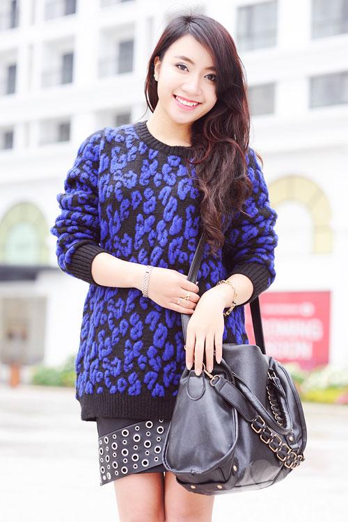 Dễ dàng mặc đẹp mà ấm cùng len oversized - 6