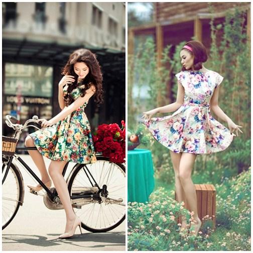 Tham khảo các kiểu váy hoa đẹp của sao Việt cho ngày nghỉ lễ