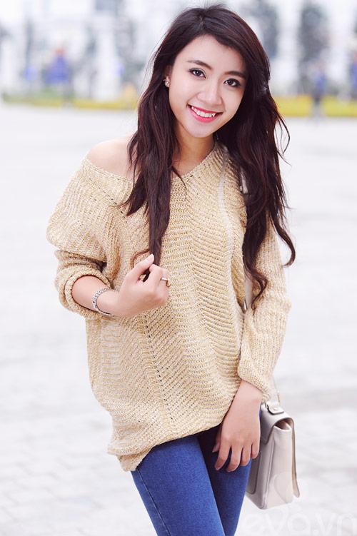 Dễ dàng mặc đẹp mà ấm cùng len oversized - 15