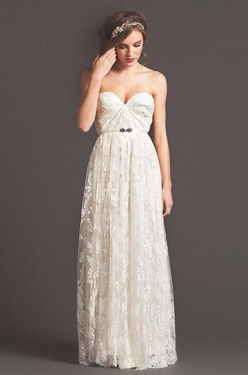 10 mẫu váy cưới đẹp cho nàng bầu - 8