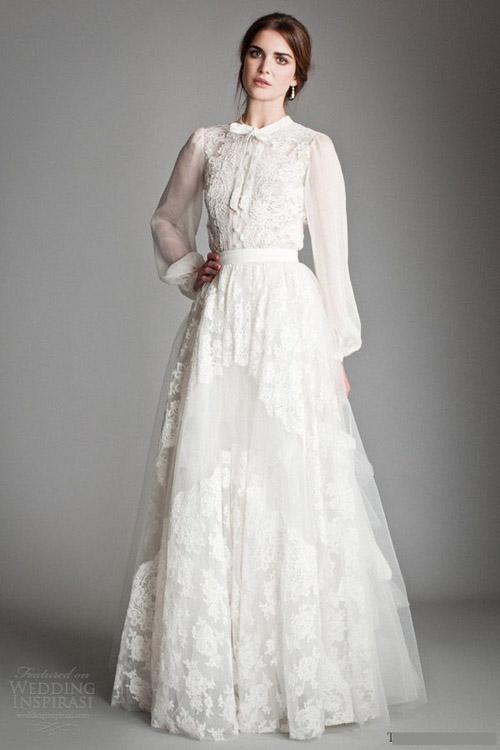 Chọn váy cưới đẹp, ấm cho cô dâu mùa đông - 8