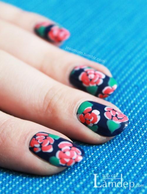 Cá tính cùng các mẫu nail họa tiết đẹp