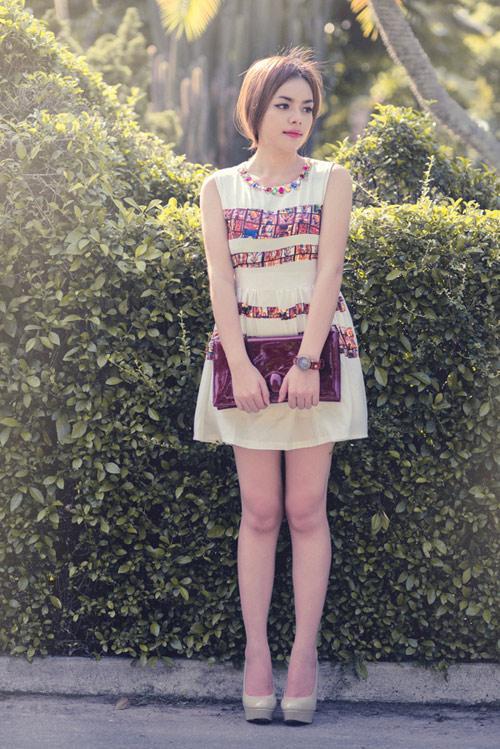 Trang phục xuân - hè ấn tượng cùng Triệu Tú Trâm