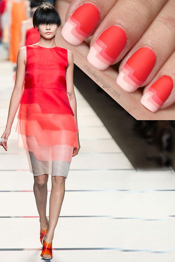 Các mẫu móng đẹp ấn tượng 'xuyệt tông' với quần áo