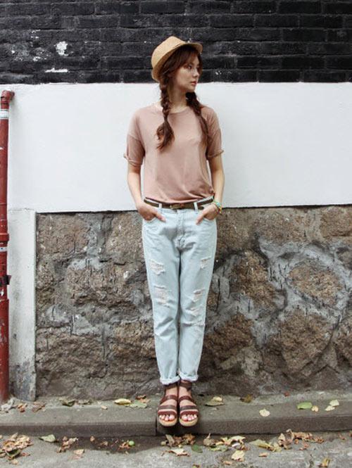 'Chất lừ' với quần jeans dáng thụng - 6