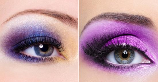 Quyến rũ với tông trang điểm mắt màu tím