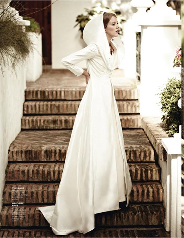 Ấm áp mà vẫn đẹp lộng lẫy với áo khoác cưới mùa đông 2013 12