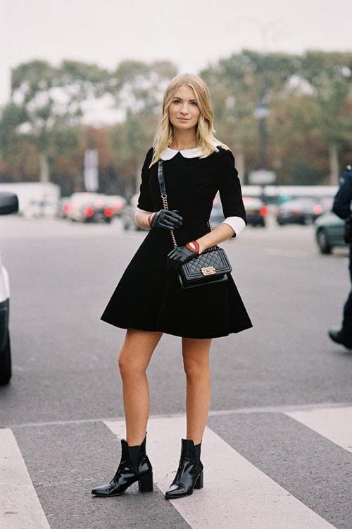 7 cách đơn giản khiến chiếc váy đen thêm bắt mắt 9
