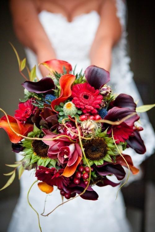 Chọn hoa tone ấm áp cho đám cưới mùa lạnh 13