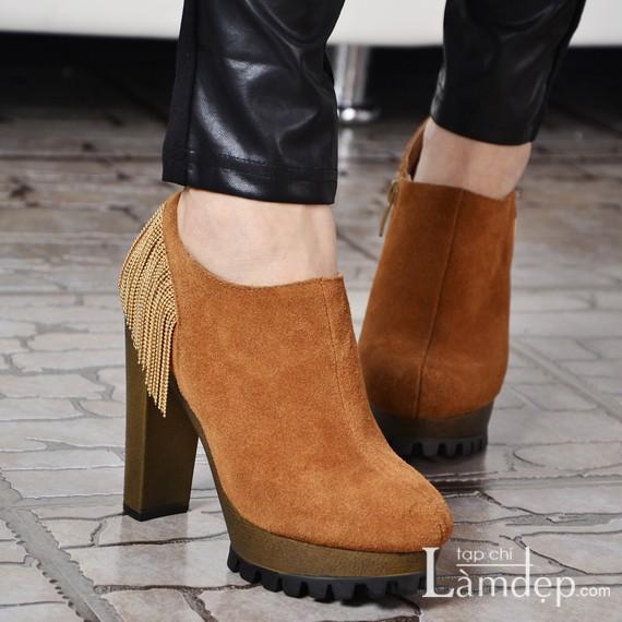 Các mẫu boot cổ thấp đẹp nâng niu chân xinh