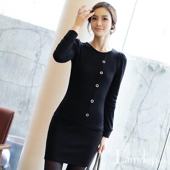 Các mẫu váy len đẹp thu đông 2013