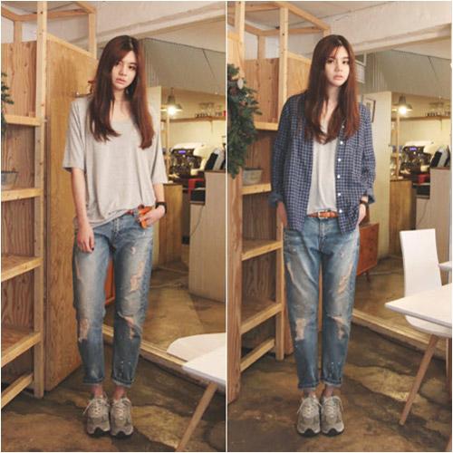 'Chất lừ' với quần jeans dáng thụng - 7