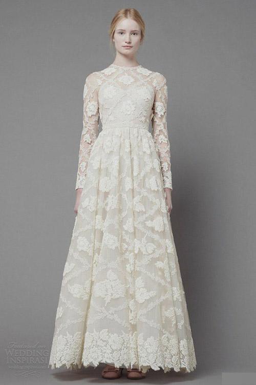 Chọn váy cưới đẹp, ấm cho cô dâu mùa đông - 4