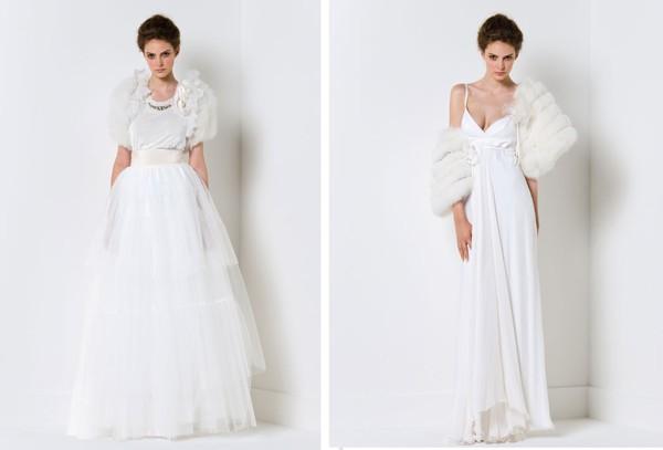 Ấm áp mà vẫn đẹp lộng lẫy với áo khoác cưới mùa đông 2013 6