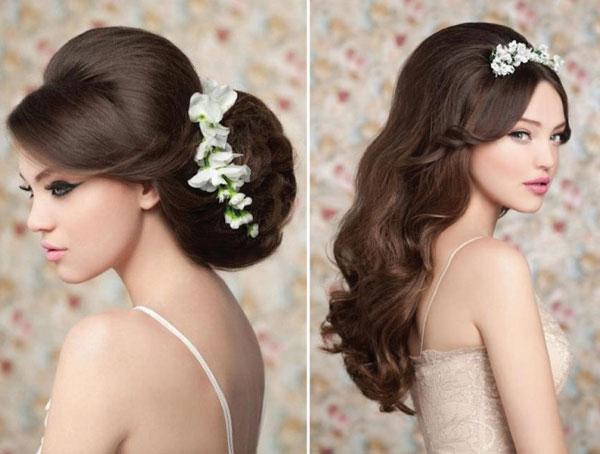 Tóc bồng bềnh cho cô dâu lãng mạn
