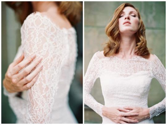 Xu hướng váy cưới dài tay cho mùa đông lạnh giá 3