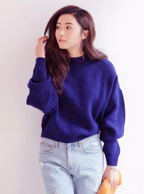 Gợi ý xinh đẹp với áo len lửng