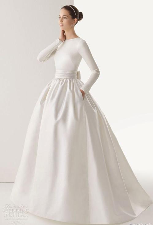 Chọn váy cưới đẹp, ấm cho cô dâu mùa đông - 3