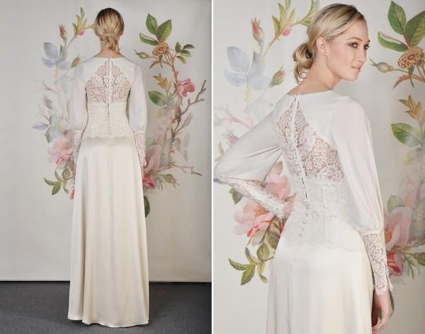 Xu hướng váy cưới dài tay cho mùa đông lạnh giá 19