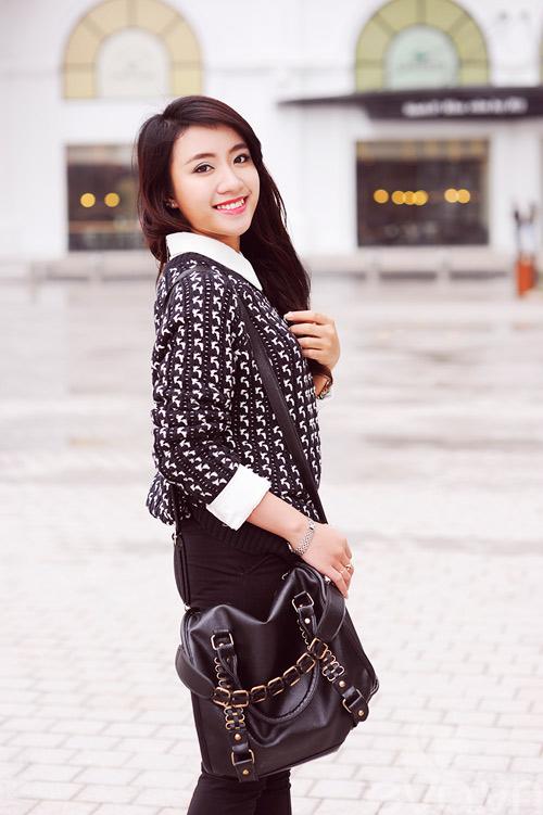 Dễ dàng mặc đẹp mà ấm cùng len oversized - 3