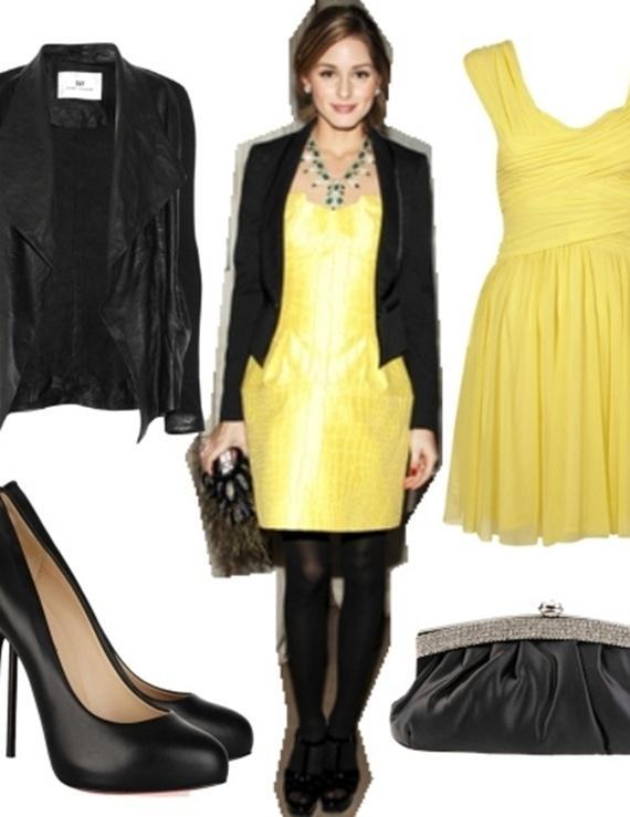 Váy tông vàng lãng mạn cho ngày thu