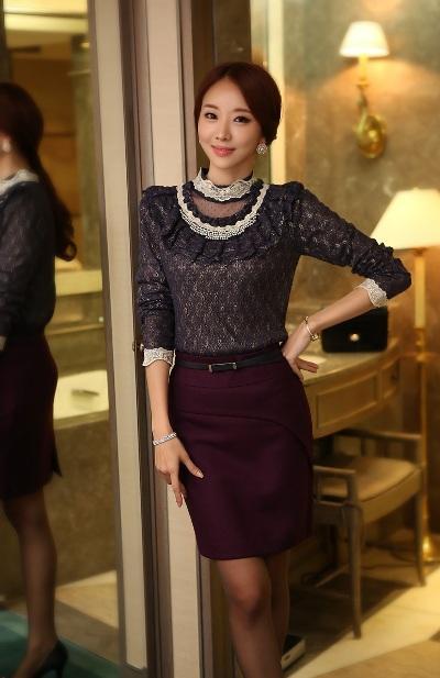 Áo sơ mi cao cổ nữ: Xu hướng mới mùa thời trang thu đông 2013