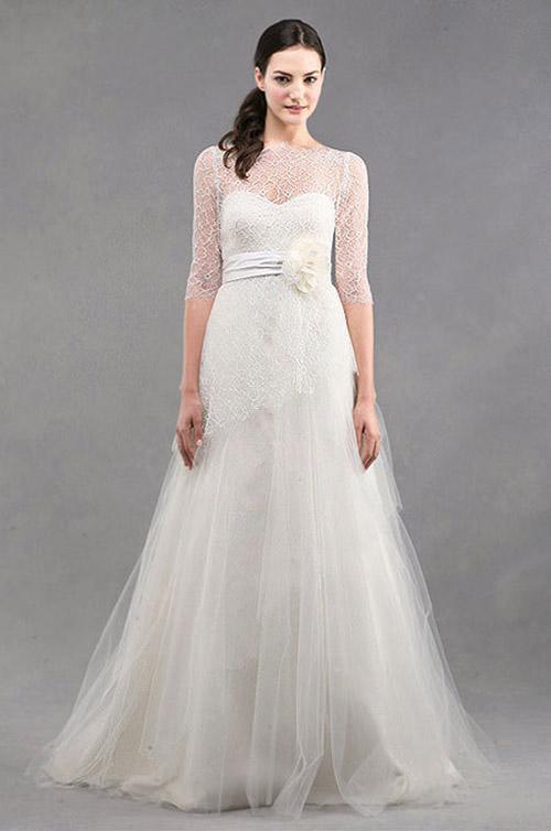 10 mẫu váy cưới đẹp cho nàng bầu - 9