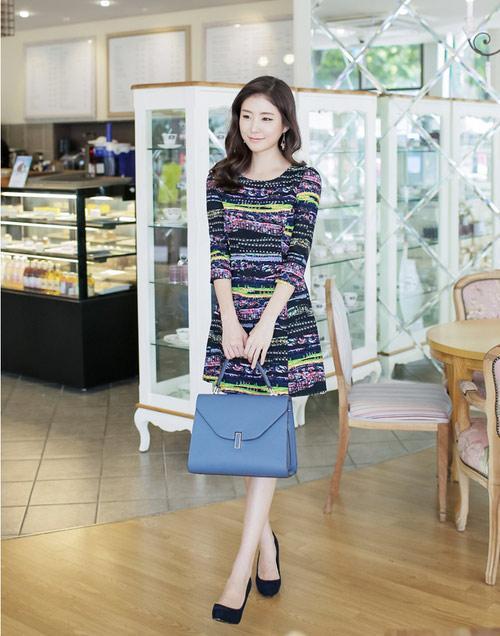 Các mẫu váy liền đẹp thanh lịch đón mùa thời trang thu đông
