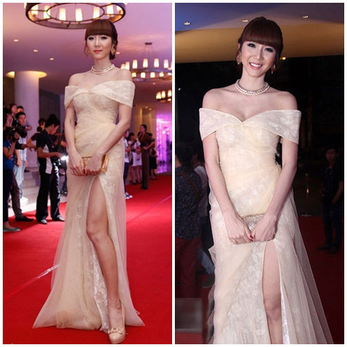 Các kiểu váy trễ vai đẹp xinh của sao Việt