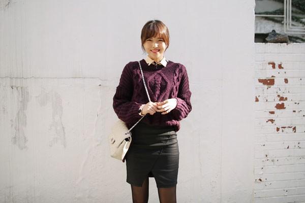 Gợi ý 4 cách kết hợp luôn đẹp với áo len trơn màu 8