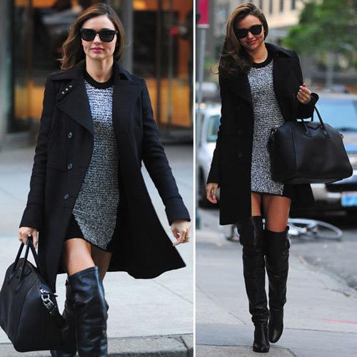 Chọn áo khoác mùa đông chuẩn như Miranda Kerr - 6