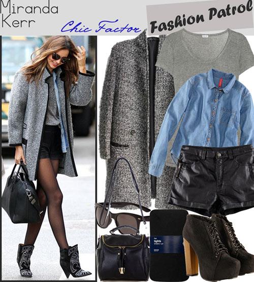 Chọn áo khoác mùa đông chuẩn như Miranda Kerr - 1