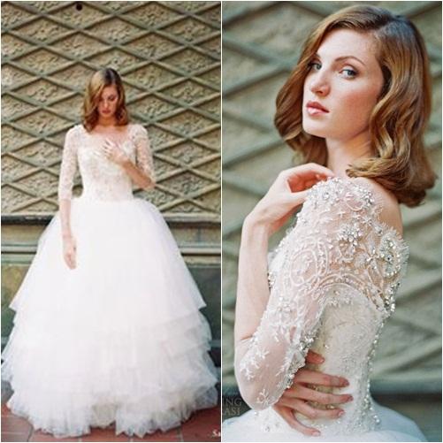 Chọn váy cưới đẹp, ấm cho cô dâu mùa đông - 2