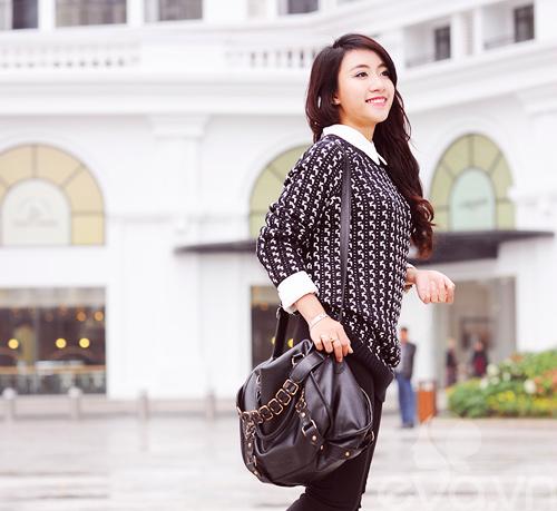 Dễ dàng mặc đẹp mà ấm cùng len oversized - 2