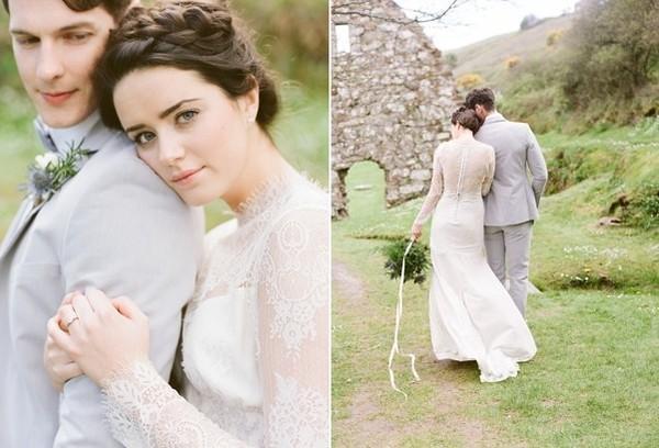 Xu hướng váy cưới dài tay cho mùa đông lạnh giá 10