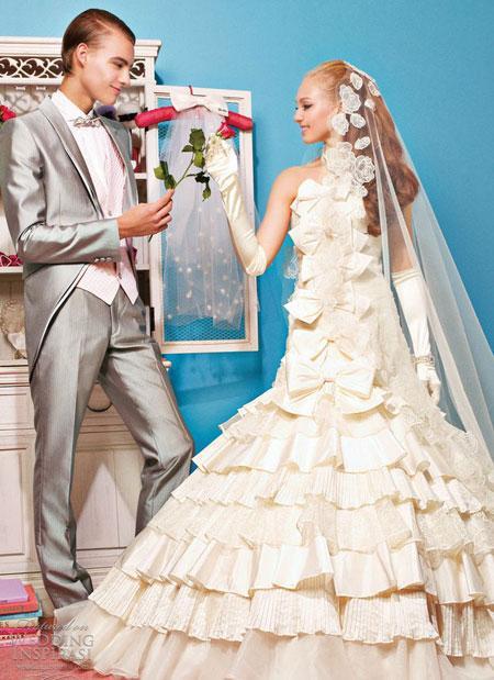 Váy cưới Barbie nhiều màu sắc